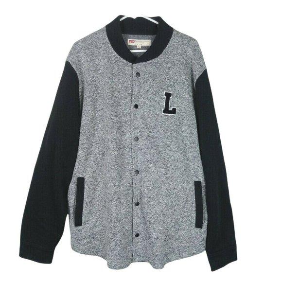 Levis Mens Knit Letterman Varsity Jacket Softshell